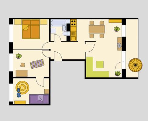 4 raum wohnung halle neustadt gwg familienwohnungen gwg familienwohnen. Black Bedroom Furniture Sets. Home Design Ideas